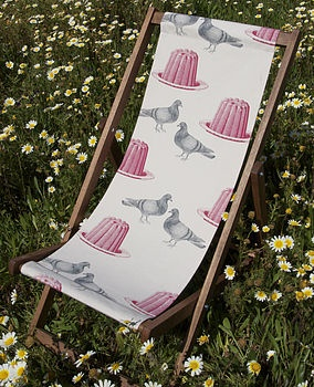 Perfect for afternoon tea and jelly   Pigeon And Jelly Deckchair