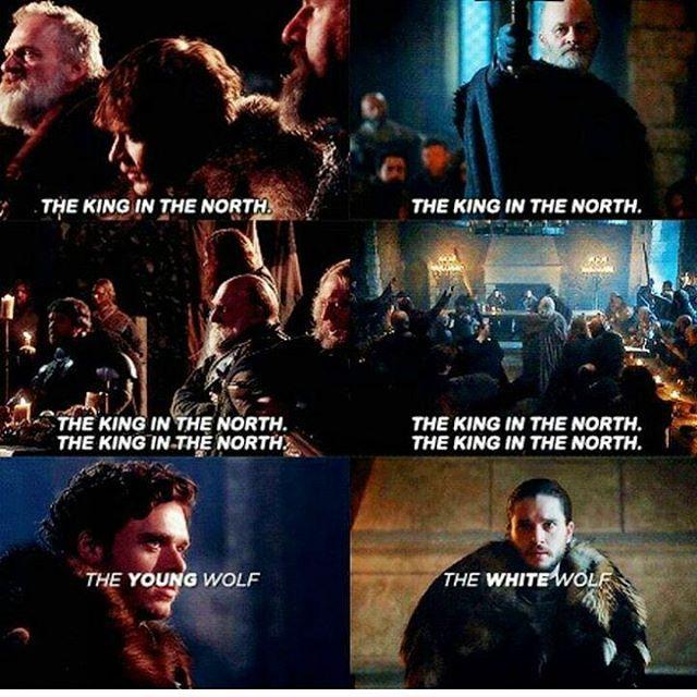 Robb Stark & Jon Snow (GoT seasons 1&6)