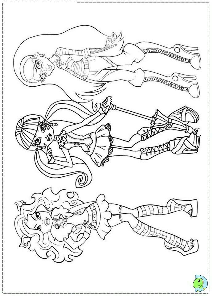 Monster High | Blank coloring pages, Monster high, Coloring ...