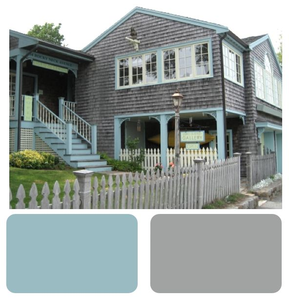Meander Blue And Escape Gray Sherwin Williams