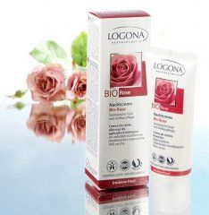 Logona Organic Rose Night Cream - With organic almond, olive, jojoba and wild rose oil (phew!) as well as cocoa butter and Damascus Rose Extract. Yum!