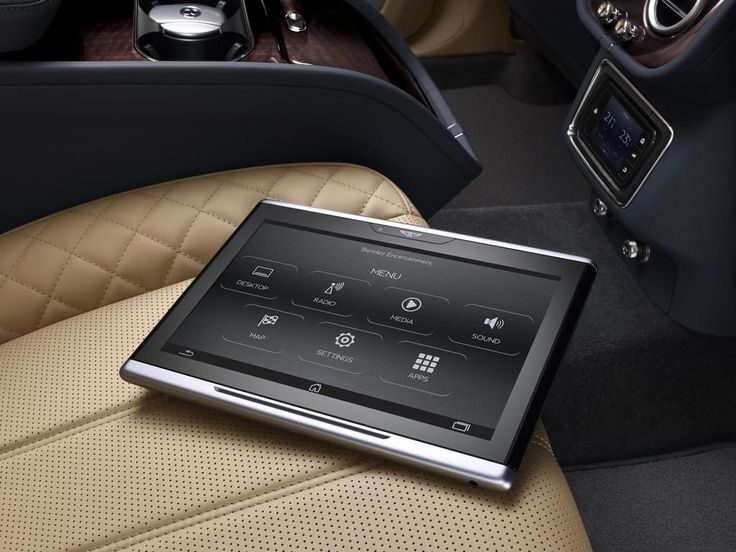 Bentley rear seat tablet