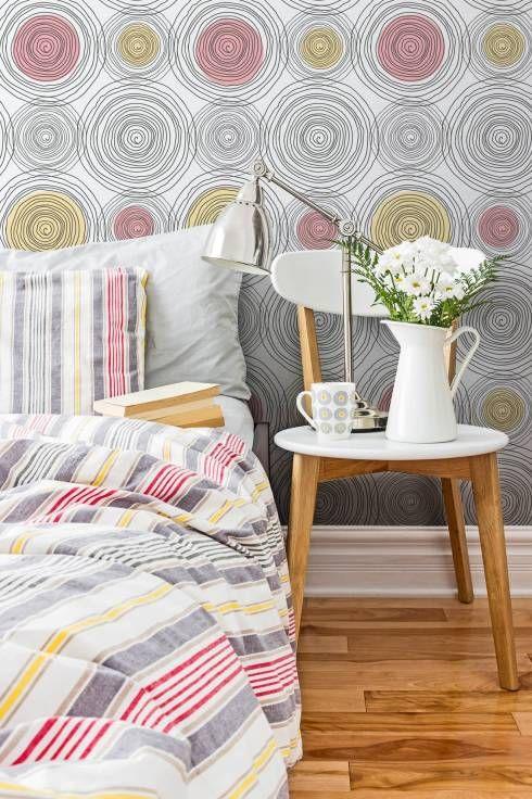 Camera da letto in stile Moderno di Tapeterie