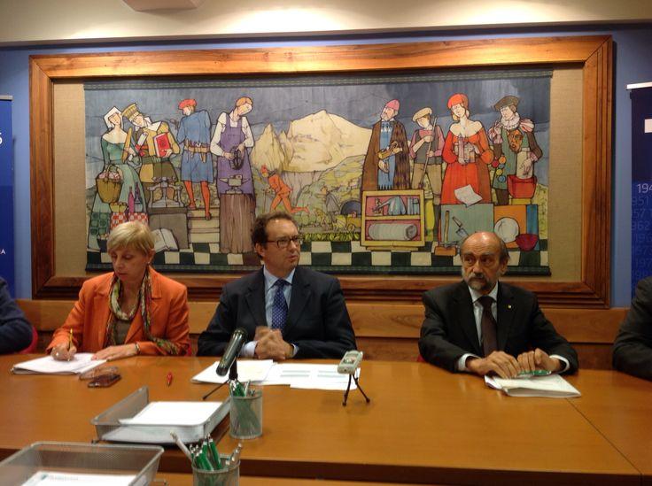 Edda Crosa, Paolo Giachino e Alfredo Lingeri, Confindustria Valle d'Aosta