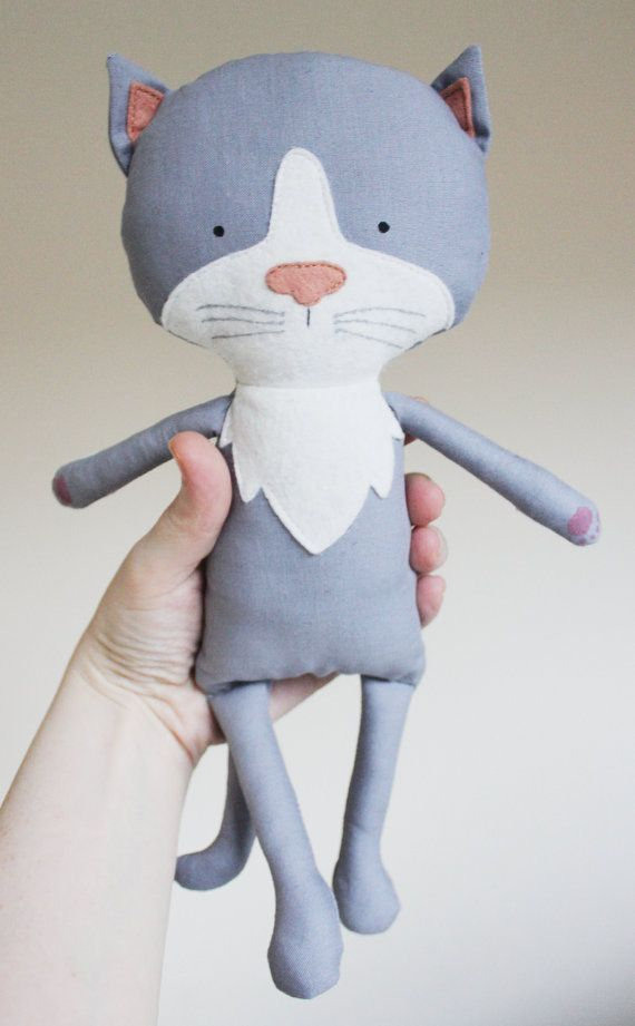 Cat Sewing Pattern Kitten Softie Plush Toy Cloth Doll by ElfPop