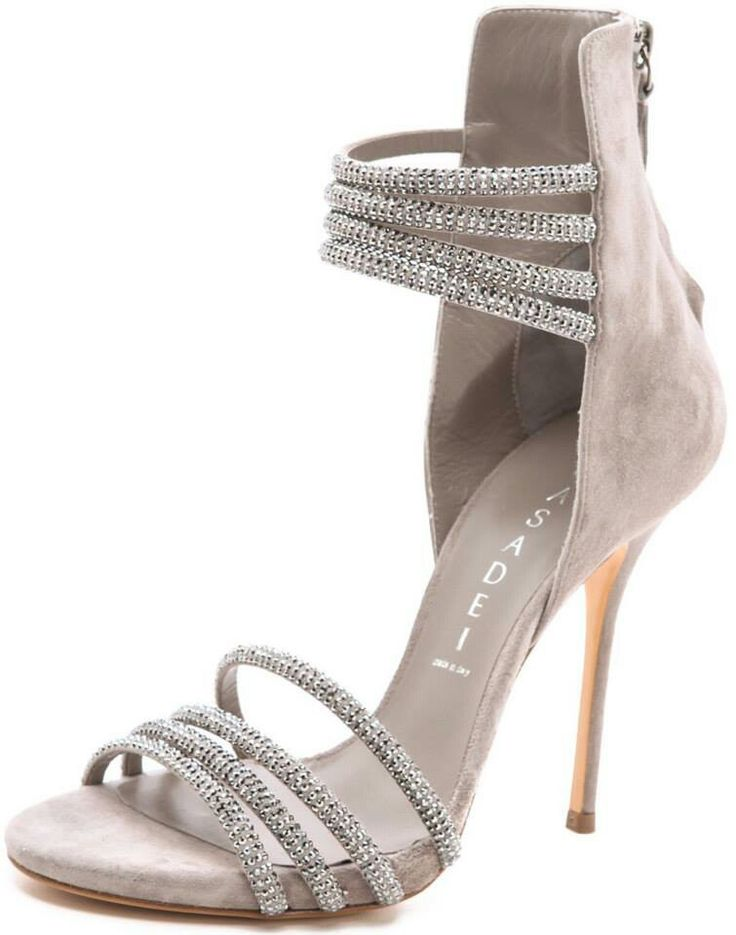 Grey beaded heels, these are some fun heels