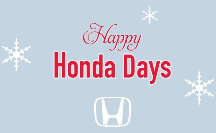 Happy honda daysnow and for the rest of 2016 new and