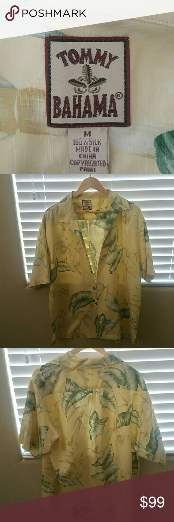 Tommy Bahama • Short Sleeve Dress Shirt New without tags from smoke free home. 100% silk. Authentic Tommy Bahama brand. Fits size M-L. Feel free to bundle or/and make an offer! Fast shipping on all orders. Tommy Bahama Shirts Dress Shirts