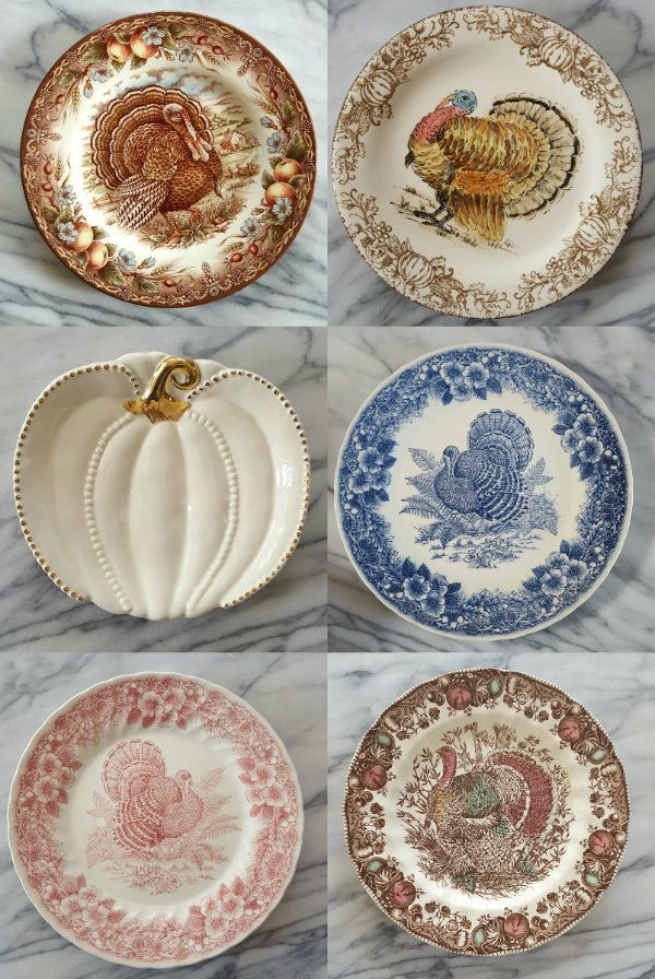 A nice variety of Thanksgiving Turkey plates