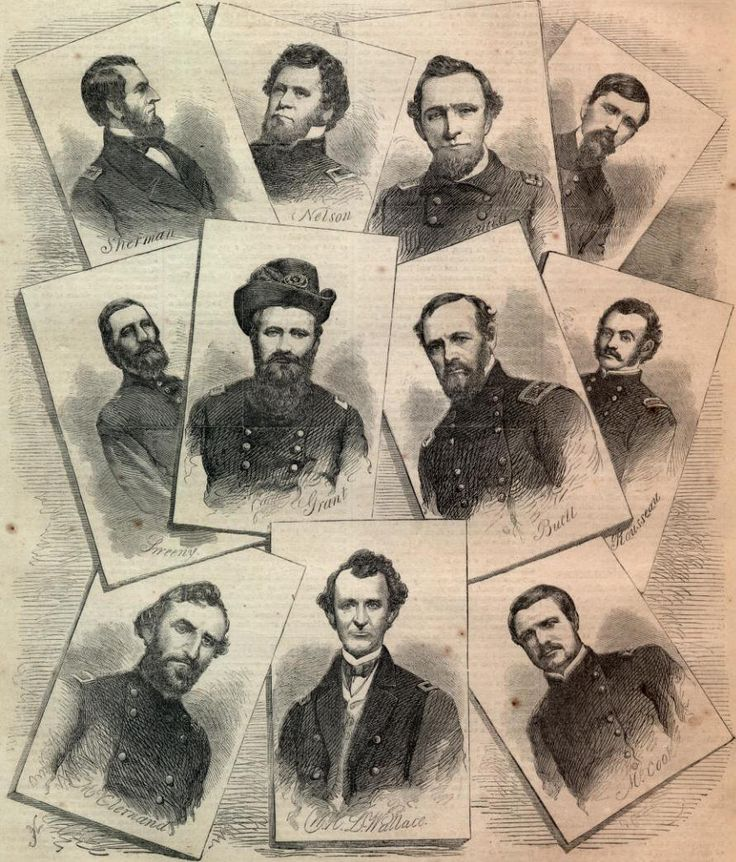 Generals at the Battle of Shiloh                                                                                                                                                                                 More