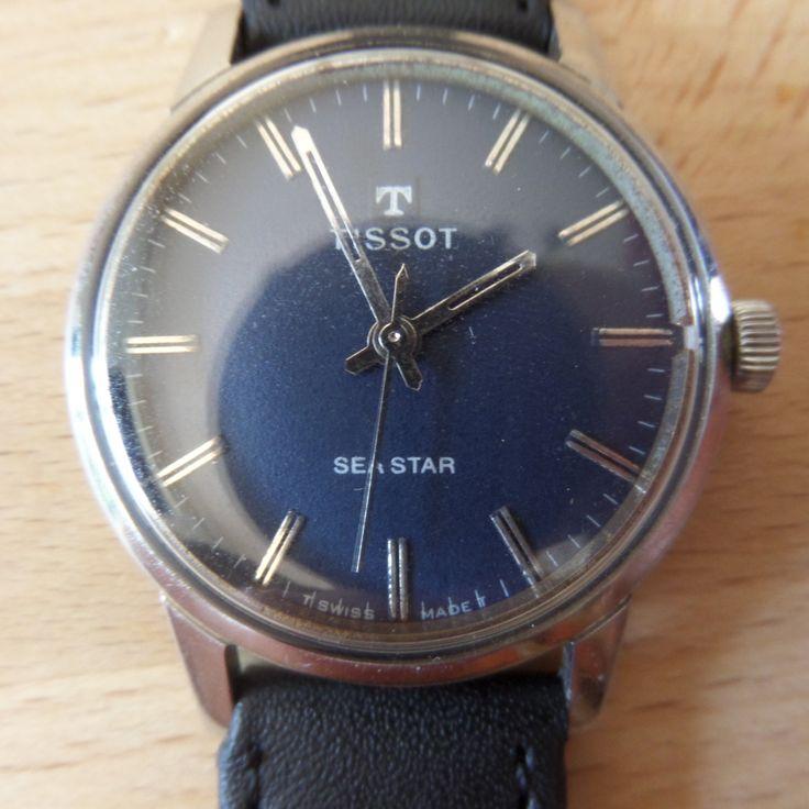 TISSOT SEASTAR - 1965 Vintage Guaranteed Genuine, Swiss made Gents/Mens mehanical mechainsim wrist watch by EWcoLondon on Etsy