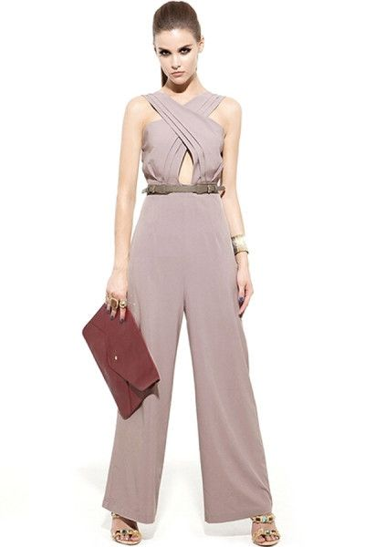 Charming Front-Cross Jumpsuits