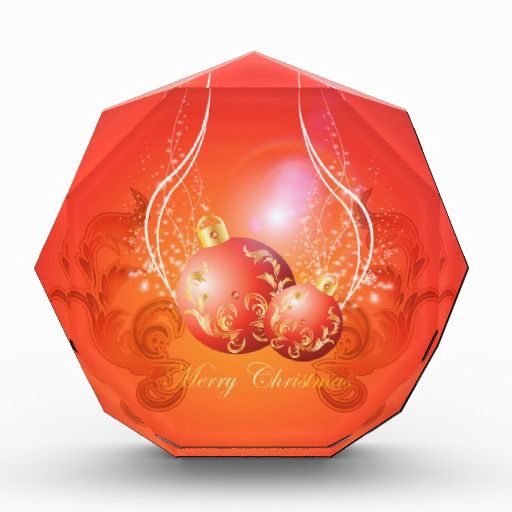 Decorative #christmas #balls in gold and red acrylic #award