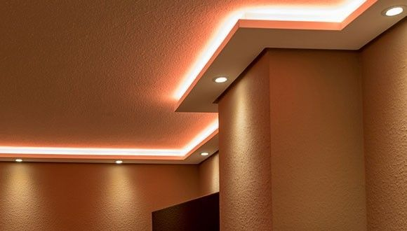 Indirect Led Lighting Wall And Ceiling Lighting Design Interior Wall Lights False Ceiling Living Room