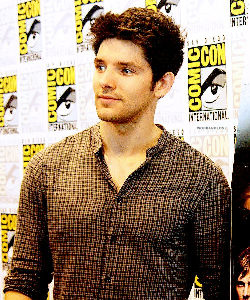 Colin, my, how you've grown. I just keep flashing back to the first episode of Merlin and how adorable he was.