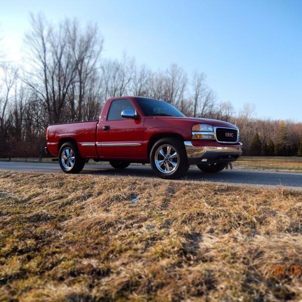 Nice red gmc sierra truck