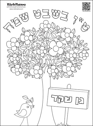 7 fruits for tu bshvat coloring pages | 176 best images about Happy Birthday, Trees! on Pinterest ...