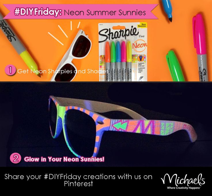 Fun craft for kids.....Neon Summer Sunglasses draw on them to create them your own fun patterns