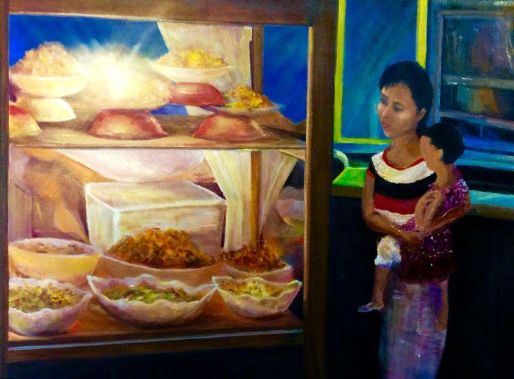 "By Brian Alexander""Food stall Sindu Market,Bali""."