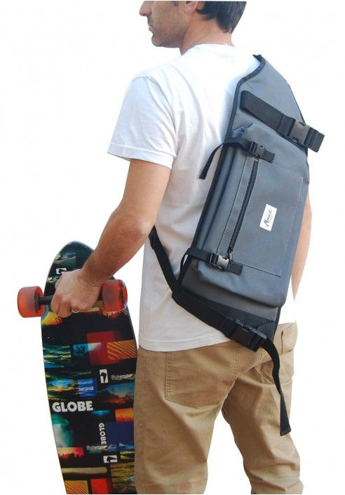 67803bf52d1 The best Longboard Backpack - Gray