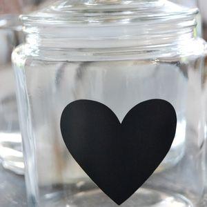 Klistermärken -Hjärta svart griffelfärg