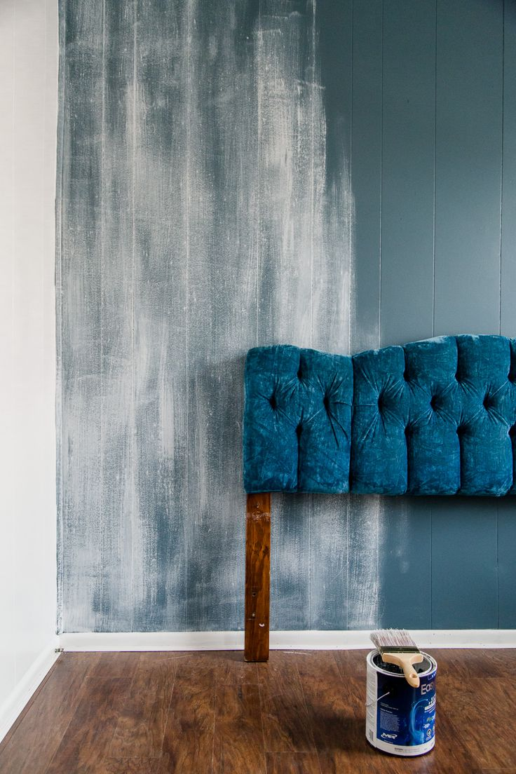 Dry Brushed Wall Textured Accent Wall Painting Techniques Bold Painted Wall Via