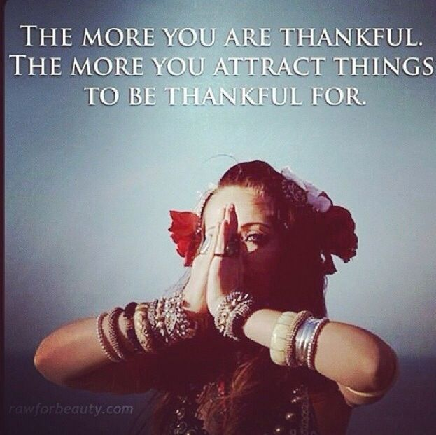 Gratitude and the laws of attraction