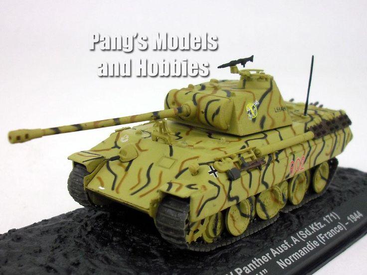 Panther Tank - Panzerkampfwagen V Panther 1/72 Scale Diecast Metal Model by Altaya