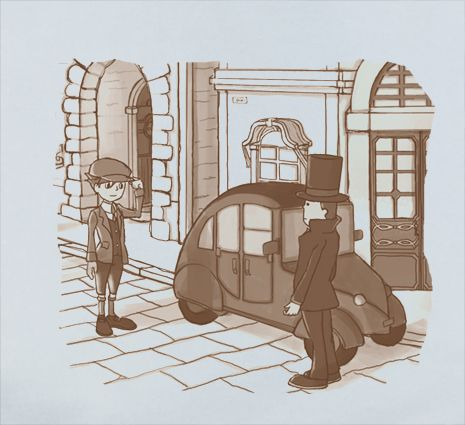 Custom Fanmade Professor Layton Leyton Nintendo Wii Gameboy Anime Manga T-Shirt Tee Tshirt merchandise gear poster dvd keychain figure soundtrack plush bag