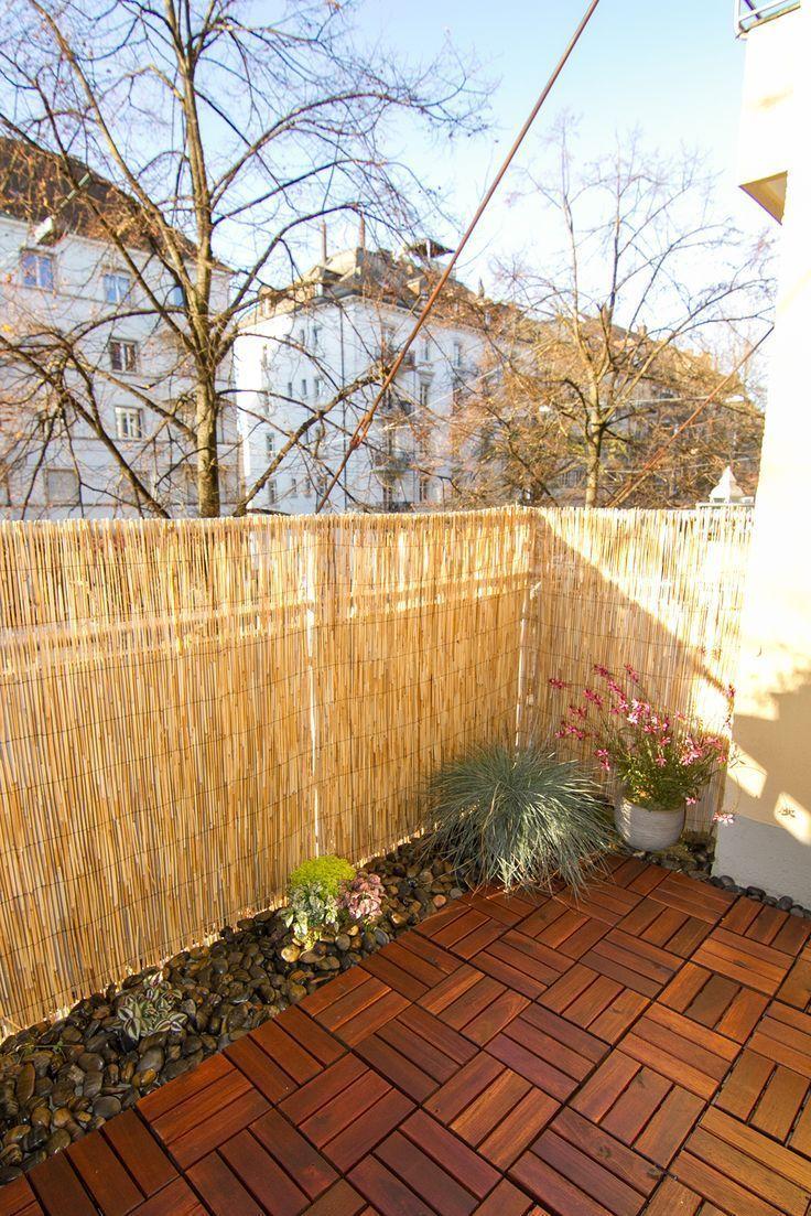 Balcony Diy In Progress Little Garden With Black And Terra Pebbles Small Plants Ikea Outdoor Interlocking F Ikea Outdoor Kleiner Garten Diy Gartendekoration