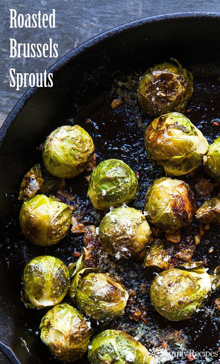 Roasted Brussels Sprouts ~ Brussels sprouts, oven-roasted ...