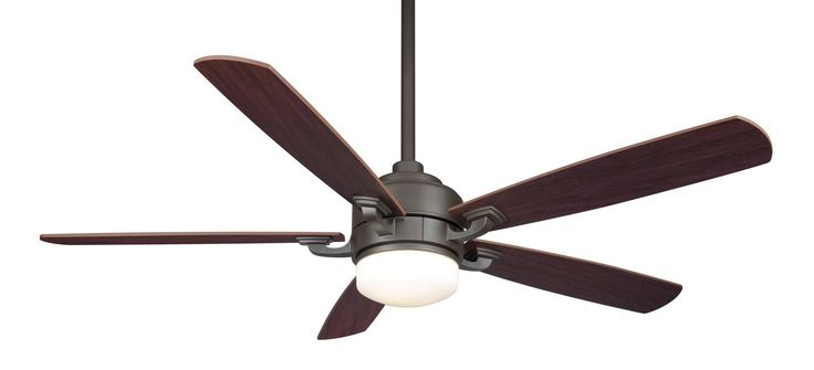 "Fanimation FP8003-220 52"" 5 Blade 220V FanSync Compatible Commercial Ceiling Fan Oil-Rubbed Bronze Fans Ceiling Fans Indoor Ceiling Fans"