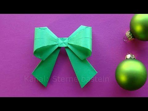 origami weihnachten basteln ideen schleife falten diy zum geschenke einpacken youtube