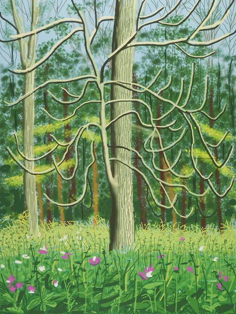 The Arrival of Spring in Woldgate, East Yorkshire in 2011 - 4 May, 2011, by David Hockney