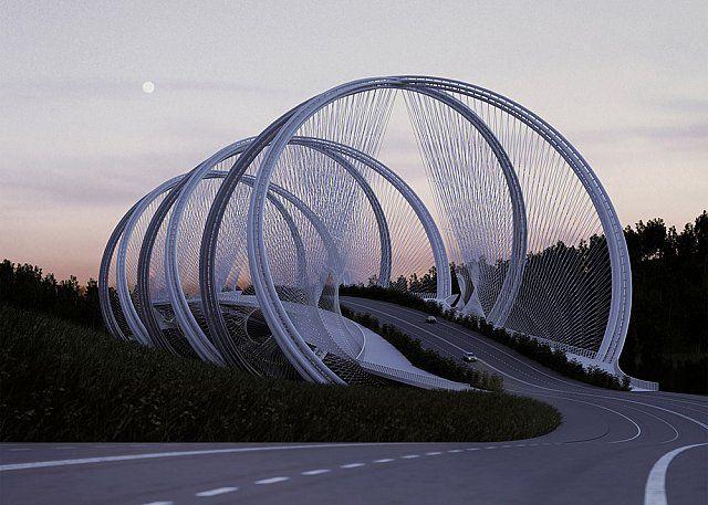 Pekin Kış Olimpiyatları İçin Yapılması Planlanan San Shan Köprüsü
