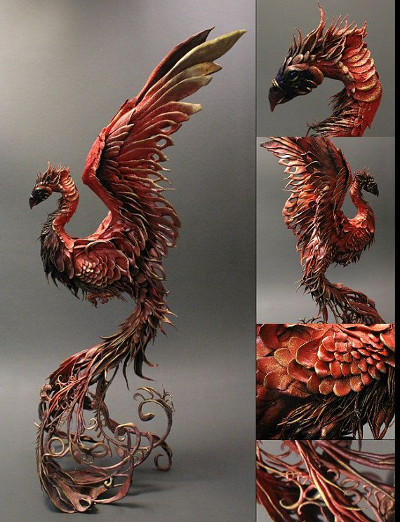 Fire Phoenix (CUSTOM ORDER- creaturesfromel, etsy)