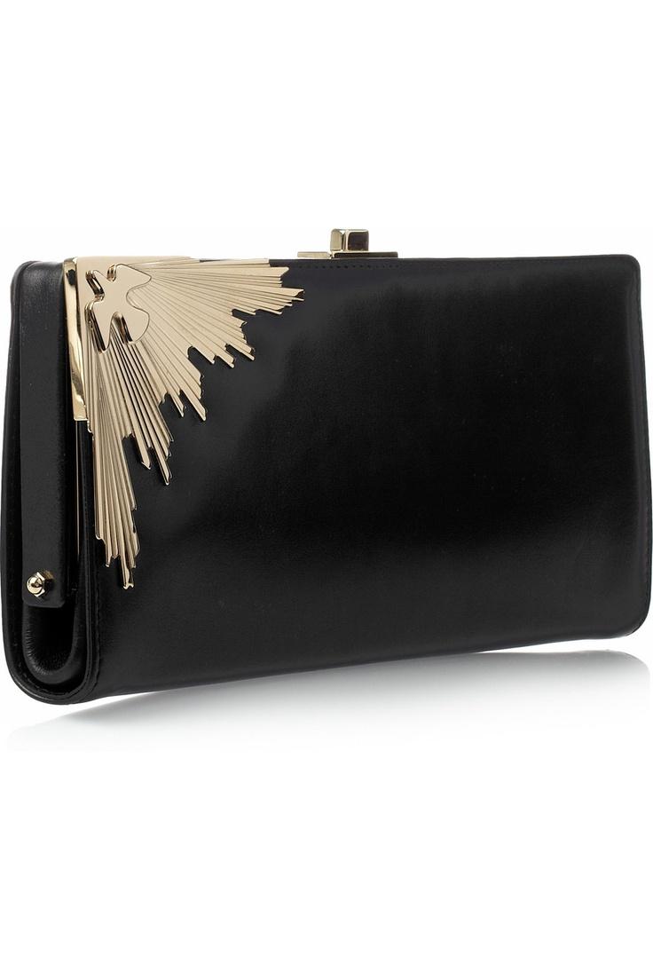 JASON WU  constance leather clutch