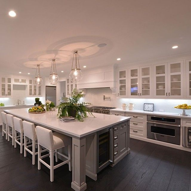 Best 25 large kitchen design ideas on pinterest huge for Big island kitchen design