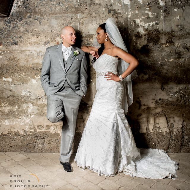 Wonderful bride and groom portrait at Old Mill in Toronto