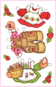 Strawberry Shortcake Greeting Card Paper Dolls