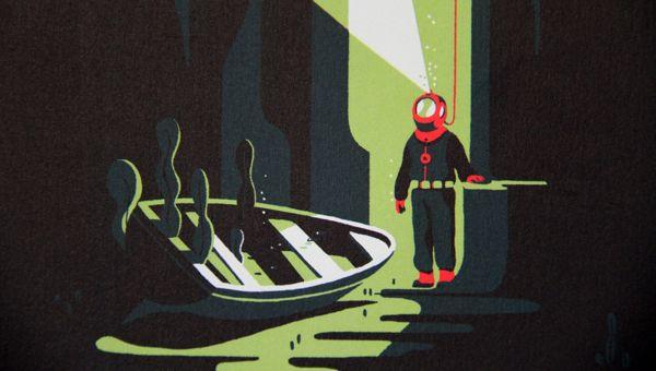 les mondes engloutis by Tom Haugomat, via Behance