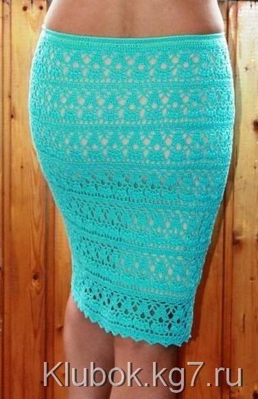Бирюзовая юбочка