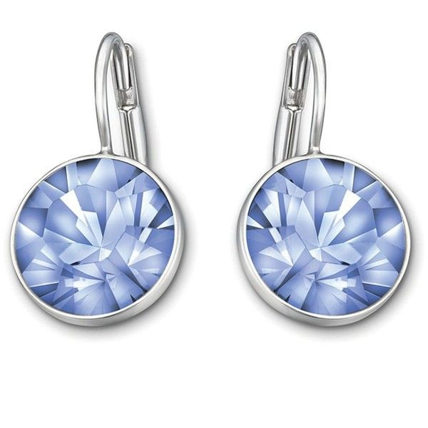 Swarovski Bella Light Sapphire Crystal Earrings ($69) ❤ liked on Polyvore featuring jewelry, earrings, blue, blue jewelry, swarovski jewellery, swarovski earrings, blue earrings and sparkle jewelry