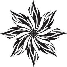 flower pattern black and white - Căutare Google