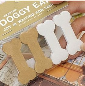 Doggy Bone Sticky Notes for the dog lover in us all. I use them for pagemarkers in files and books. SO cute and only $5.