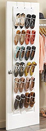 From 11.99 Missofsweet 24 Pockets Hanging Over The Door Shoe Storage Bags Foldable On Wall Shoe Rack Organiser Wardrobe/toys Storage Bag - White