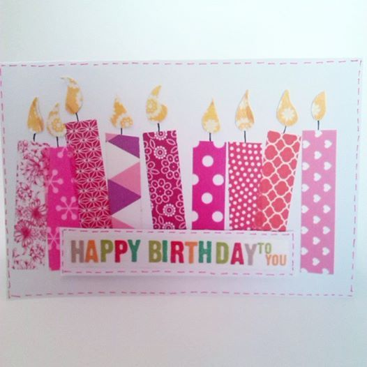 Tarjeta cumpleaños washi tape