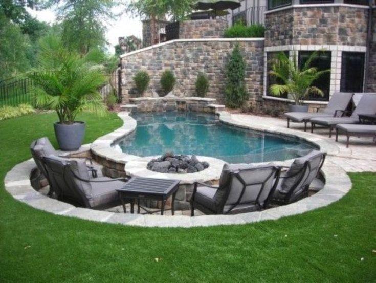 Inground Pool Backyard Designs Ideas Small Backyard Pools Swimming Pools Backyard Backyard Pool Designs