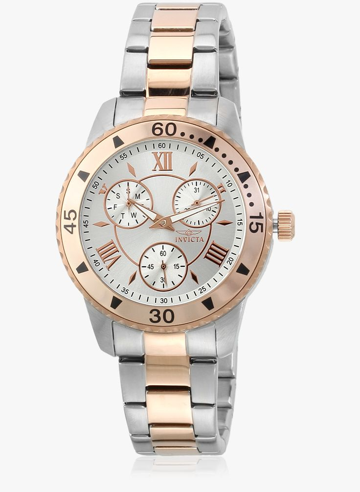 Invicta Angel 21771 Silver-Rose Gold/Silver-Rose Gold Analog Watch