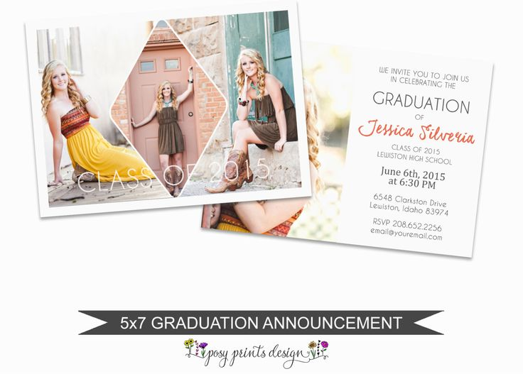 The 25+ best Graduation announcement template ideas on Pinterest - graduation announcement template
